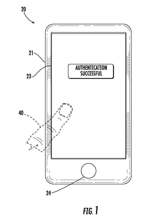 Patente del Touch ID integrado en pantalla
