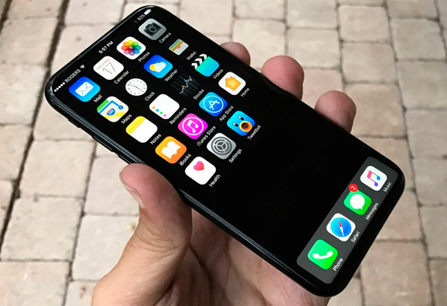 iPhone 8 con pantalla OLED y sin biseles
