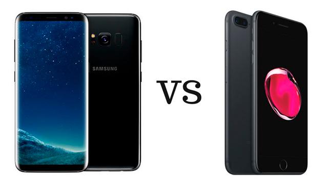 Comparativa de autonomía de S8+ vs iPhone 7 Plus