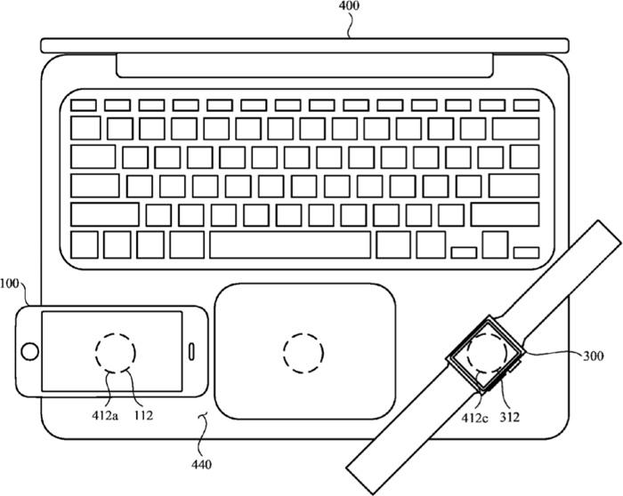 Patente carga por inducción de Apple