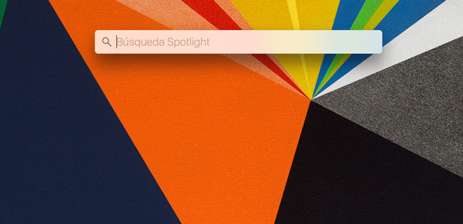 Atajos de teclado para Spotlight