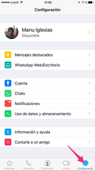 Configuración de WhatsApp