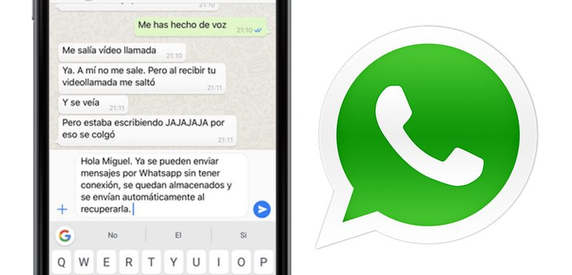 WhatsApp is updated and allows to send offline messages, and