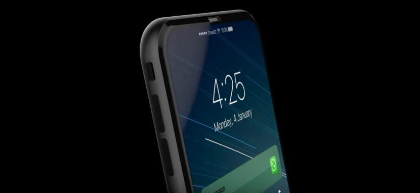 Concepto de iPhone 8 con doble pantalla