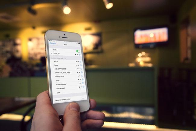 Desconectar red WiFi en iOS