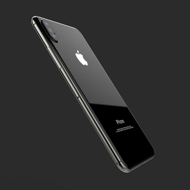Parte trasera del concepto del iPhone 8